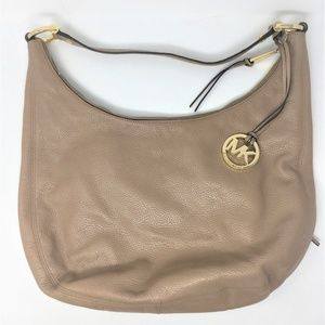 Michael Kors Handbag MMK Tan Leather Hobo